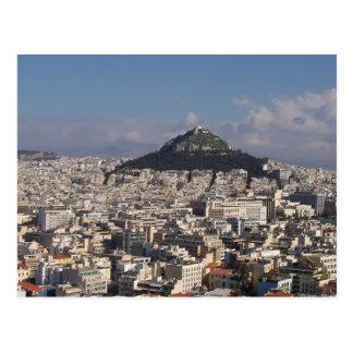 Postales del franqueo de Atenas Grecia