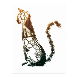 Postales del gato de Steampunk