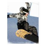 Postales del lanzamiento de la snowboard