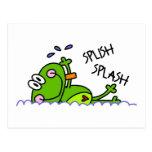 Postales del muchacho de Froggie de la natación