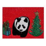 Postales del navidad de la panda