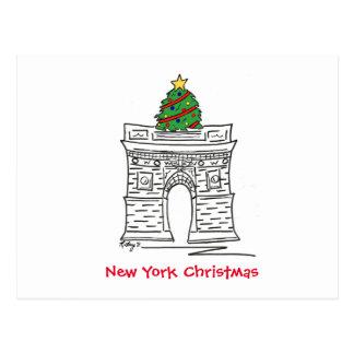 Postales del navidad de Nueva York