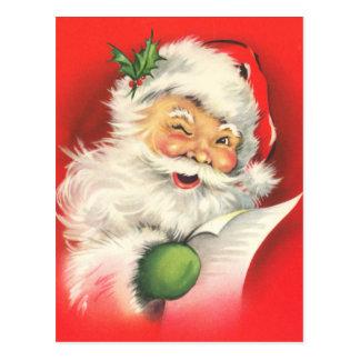 Postales del navidad de Papá Noel del vintage