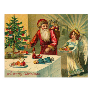 Postales del navidad de Santa del alemán
