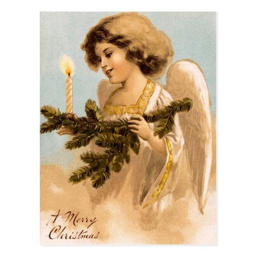 Postales del navidad del ángel del Victorian