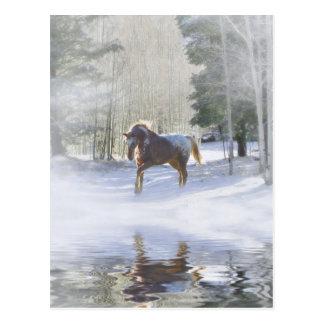 Postales del navidad del caballo