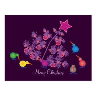 Postales del navidad Pájaros del kiwi