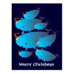Postales del navidad: Una familia de la ballena