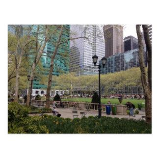 Postales del parque NYC de Bryant