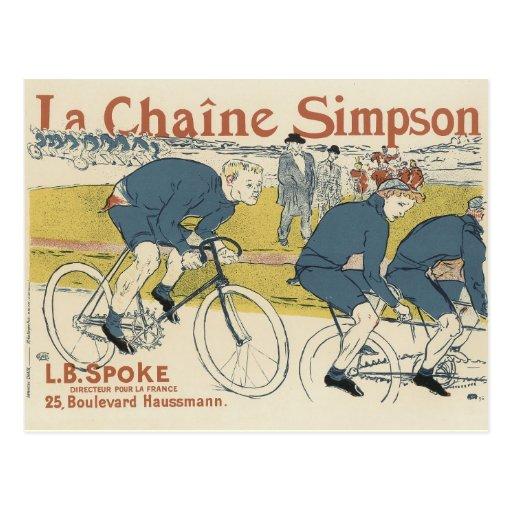 Postales del poster del vintage - bicicletas
