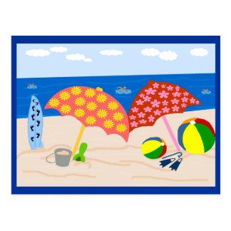 Postales del tiempo de la playa