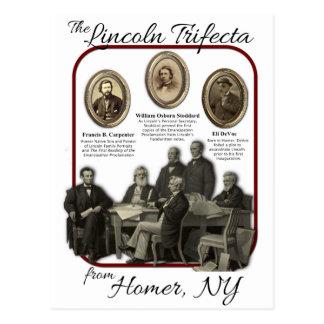 Postales del Trifecta de Lincoln del home run
