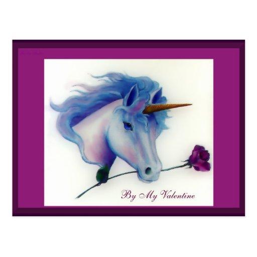 Postales del unicornio de la tarjeta del día de Sa