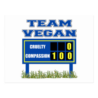 Postales del vegano del equipo