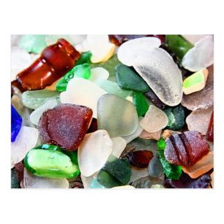 Postales del vidrio de la playa