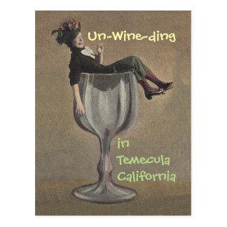 postales del vidrio del galón del vino del vintage