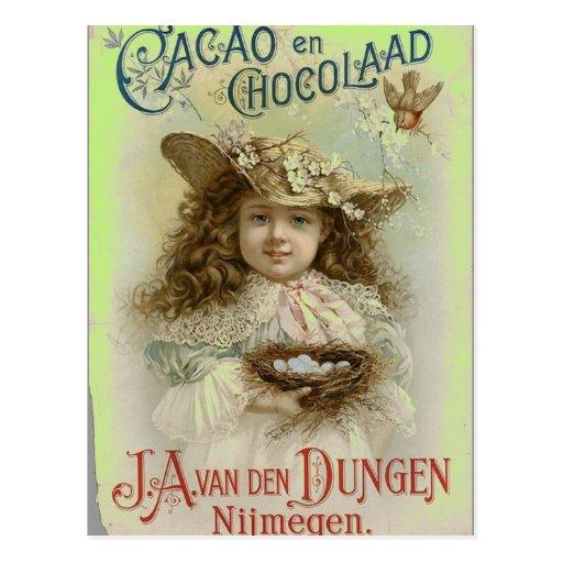 POSTALES DEL VINTAGE - ANUNCIO DEL CHOCOLATE - COR