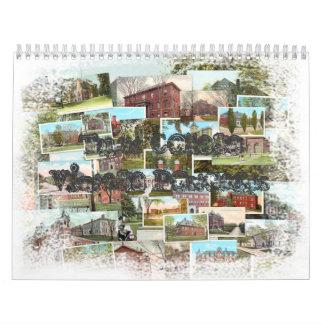 Postales del vintage de la universidad de los pena calendarios de pared
