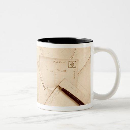 Postales del vintage tazas de café