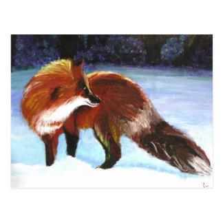 Postales del visitante del invierno (Fox rojo)