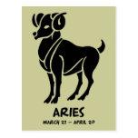 Postales del zodiaco del aries