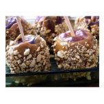 Postales deliciosas de Apple de caramelo