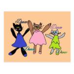 postales digitales de la danza de los kittys