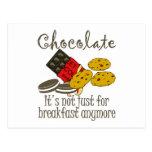 Postales divertidas del desayuno del chocolate