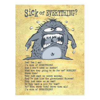 Postales divertidas del monstruo enfermo