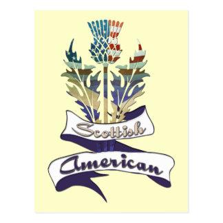 Postales escocesas de las banderas americanas