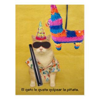 Postales españolas del mascota divertido para la d