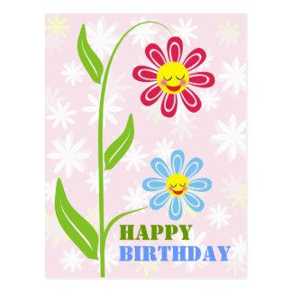 Postales felices del feliz cumpleaños de las flore