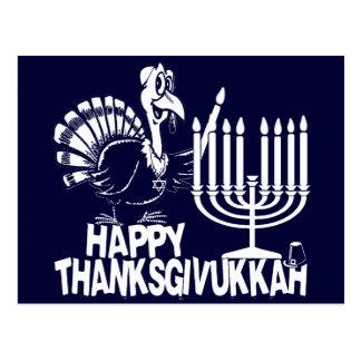 Postales felices del monocromo de Thanksgivukkah