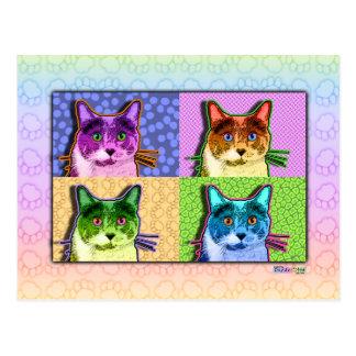 Postales - gato del arte pop