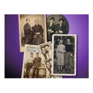 Postales gay con los retratos hermosos del vintage