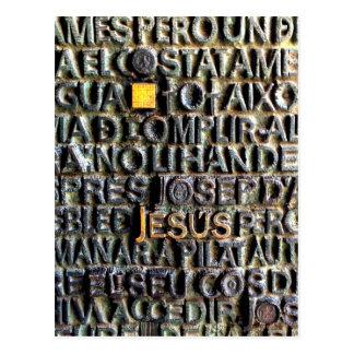 Postales grabadas de la imagen de Jesús