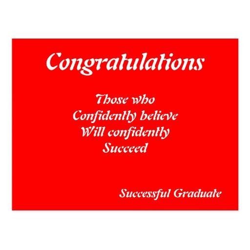 Postales graduadas acertadas de la enhorabuena