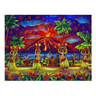 Postales hawaianas de CBjork Luau