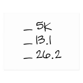 Postales horizontales de la lista de control corri