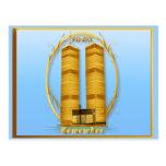 Postales indicadas con letras de las torres gemela