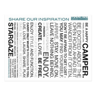 Postales inspiradas del mantra que acampan