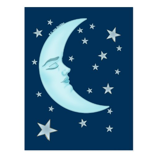 Postales lindas de la luna el dormir