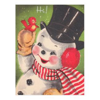 Postales lindas del navidad del muñeco de nieve