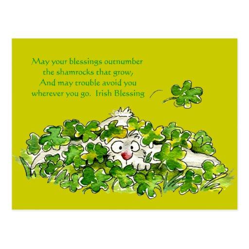 Postales lindas del St. Paddys del dibujo animado