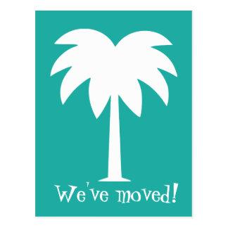 Postales móviles de la palmera para el nuevo hogar