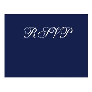 Postales náuticas azules de RSVP que se casan