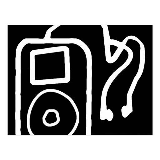 Postales negras exhaustas de iPod