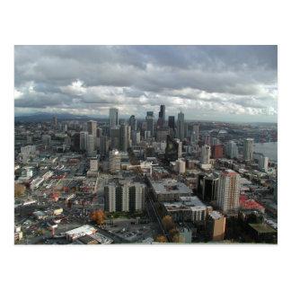 Postales nubladas céntricas del día de Seattle