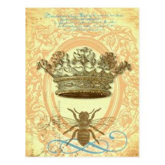 Postales o invitaciones de la abeja reina