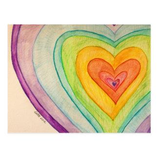 Postales o tarjetas de los corazones de la amistad